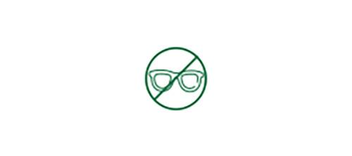 No glasses icon