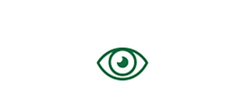 Eye icon indicating high quality distance vision with Extended Depth-of-Focus Toric IOL